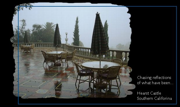Rainy day picture from Hearst Castle in California